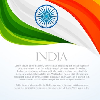indien fond de drapeau