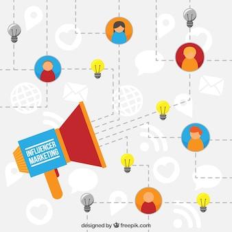 Influencer le concept d'infographie marketing