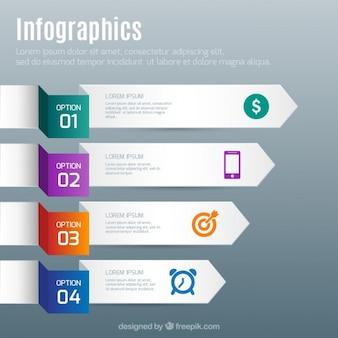 Infographie avec des flèches