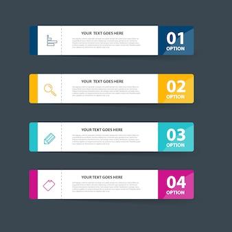Infographie e avec un design simple