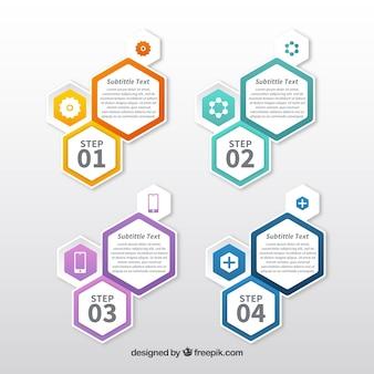 Infographie moderne avec hexagones