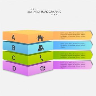 Infographies avec des bannières 3d