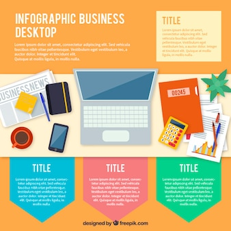 Infographies de bureau d'affaires