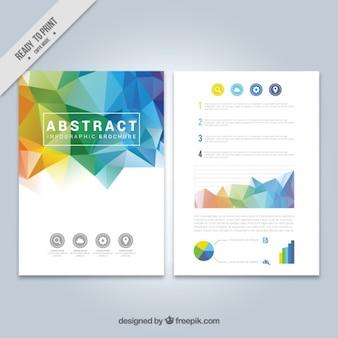 Infographies sur une brochure polygonale