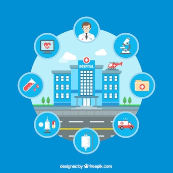 Infographique de l'hôpital