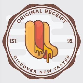 Insigne de logo de hot-dog