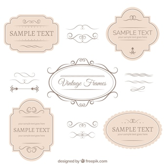 Insignes et ornements collection Vintage