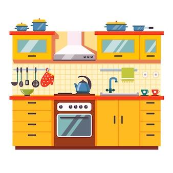 Intérieur mural de cuisine