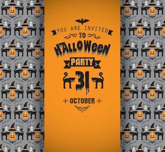 Invitation à la fête d'Halloween.
