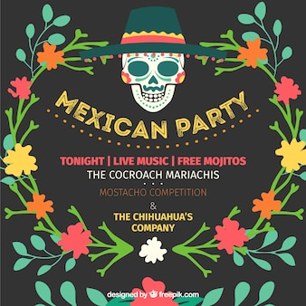 Invitation à la fête mexicaine