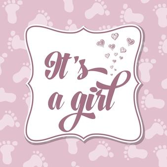 Invitation bébé fille pour baby shower