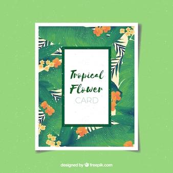 Invitation d'aquarelle tropicale