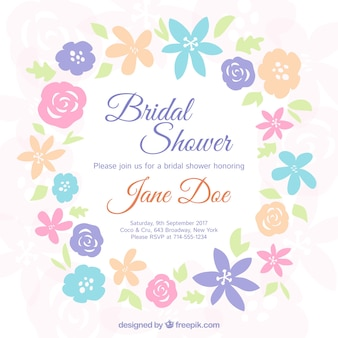 Invitation de Bachelorette de fleurs colorées