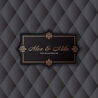 Invitation de luxe à une carte de mariage