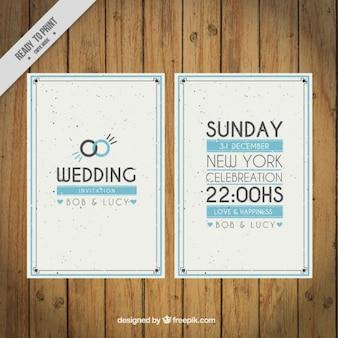 invitation de mariage anneaux Vintage