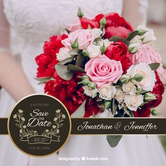 Invitation de mariage avec un ruban noir