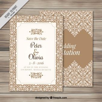 Invitation de mariage élégant avec un cadre ornemental