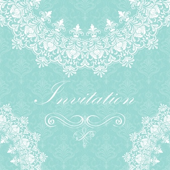 Invitation de mariage et carte d'annonce avec dentelle ornementale ronde avec des éléments arabesques. Mehndi style. Orienter l'ornement traditionnel. Ornement floral de couleur ronde Zentangle.