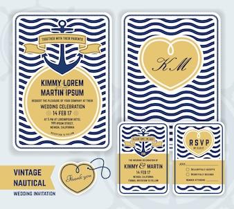 Invitation de mariage nautique