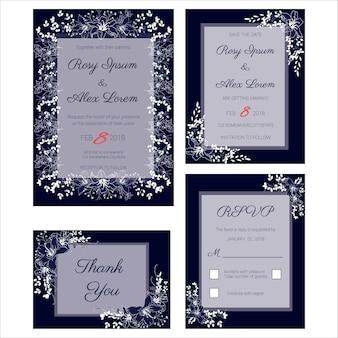 Invitation de mariage, sauvez la date