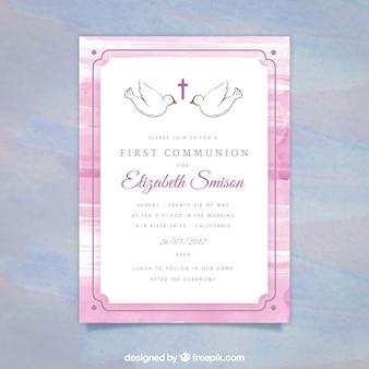 Invitation de première communion