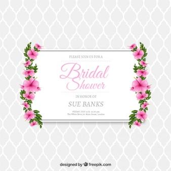 Invitation nuptiale de douche Floral
