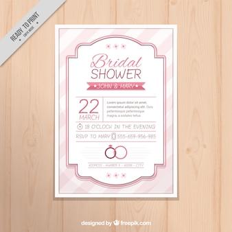 Invitation nuptiale de douche Vintage avec cadre élégant