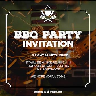 Invitation pour la fête du barbecue