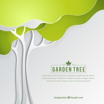 Jardin arbre fond