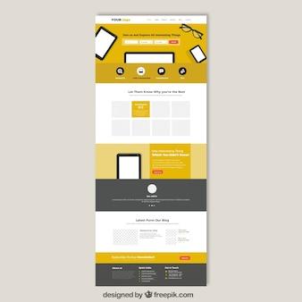 Jaune modèle de site Web