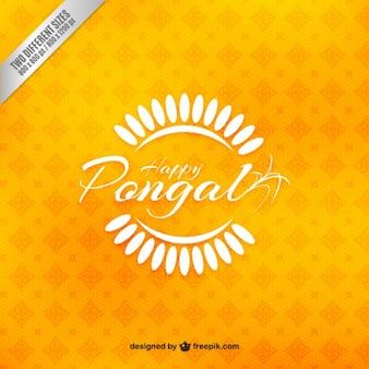 Jaune Pongal voeux fond