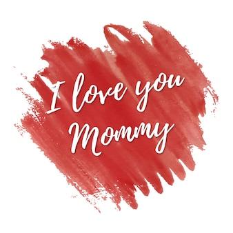 Je vous aime carte pour la fête des mères
