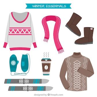 Jerseys mignon avec des accessoires d'hiver