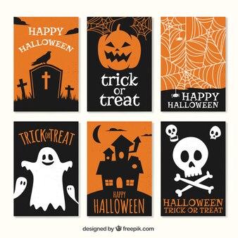 Jeu de cartes drôles de halloween
