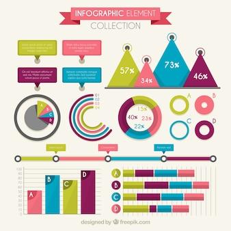 Jeu de cartes infographiques colorées