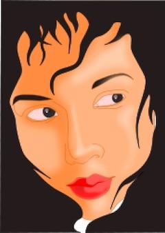 jeune fille face au cadre noir