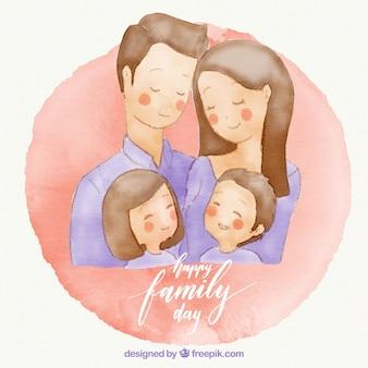 Jolie carte de jour de famille