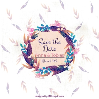 Jolie floral couronne de mariage