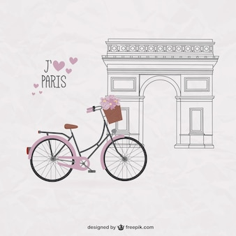 Jolie vélo sur Paris fond