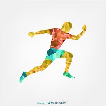 Joueur de soccer conception géométrique