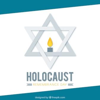 Jour de commémoration de l'Holocauste, étoile grise avec une bougie