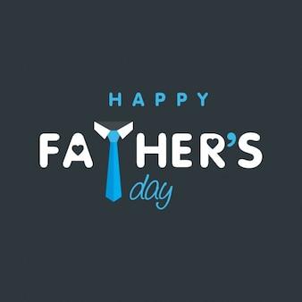 Jour de pères heureux typographie créative