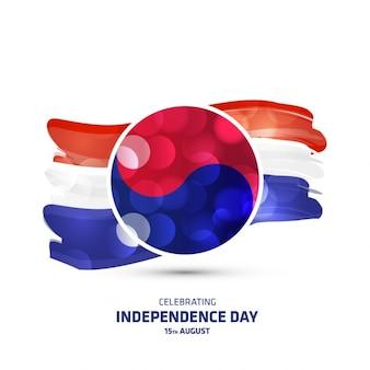 Jour le drapeau incandescent de la Corée du Sud