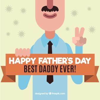 Jour salutation de caractère drôle père