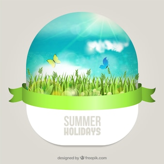 Journée d'été ensoleillée dans l'herbe