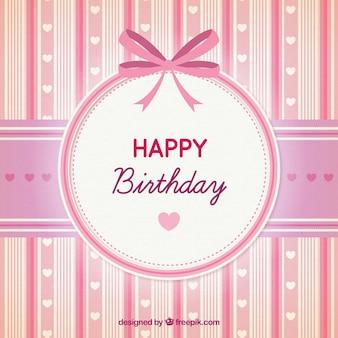 Joyeux anniversaire carte rose