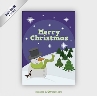 Joyeux Noël avec un bonhomme de neige