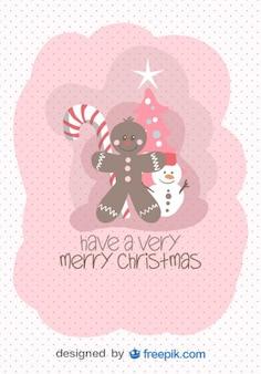 Joyeux Noël carte de voeux d'objets de Noël