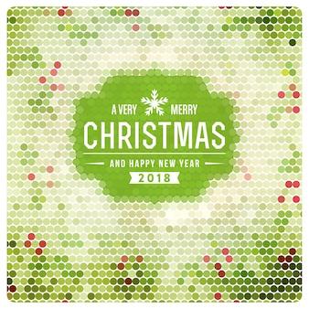 Joyeux Noël design avec des points