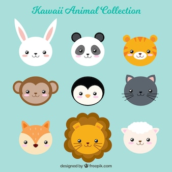 Kawaii pack d'animaux amical